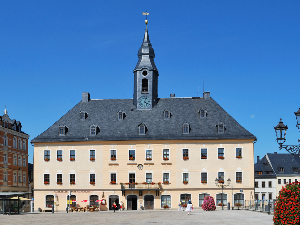 Das Rathaus in Annaberg-Buchholz