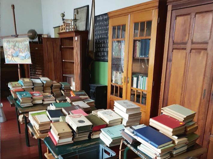 Foto des Klassenraums im Schulmuseum