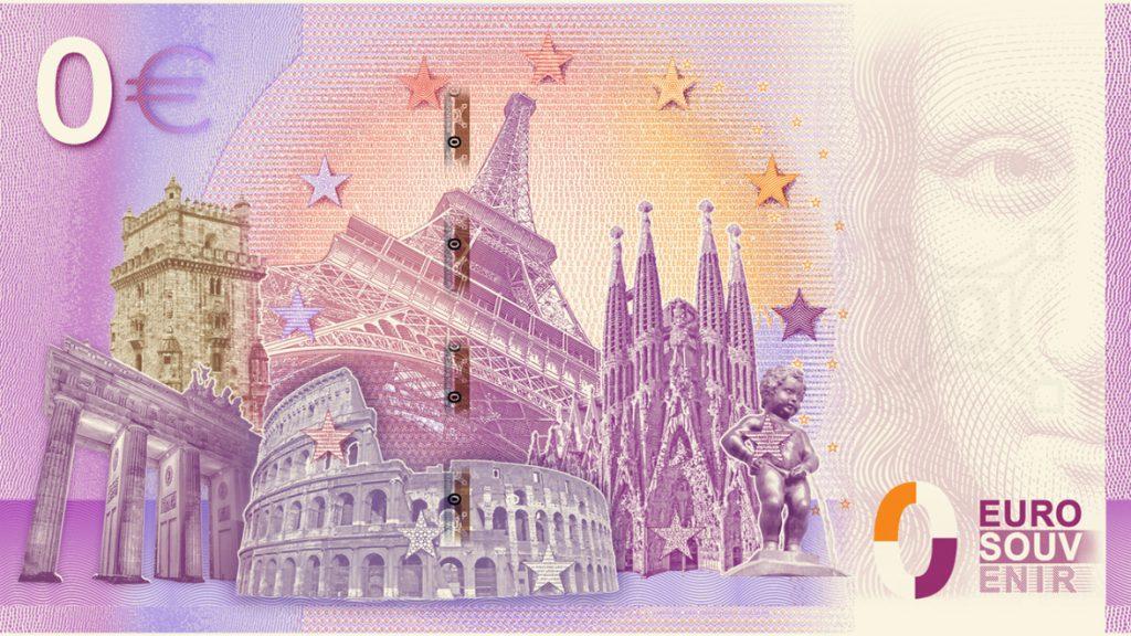 Rückansicht des 0-Euro-Scheins